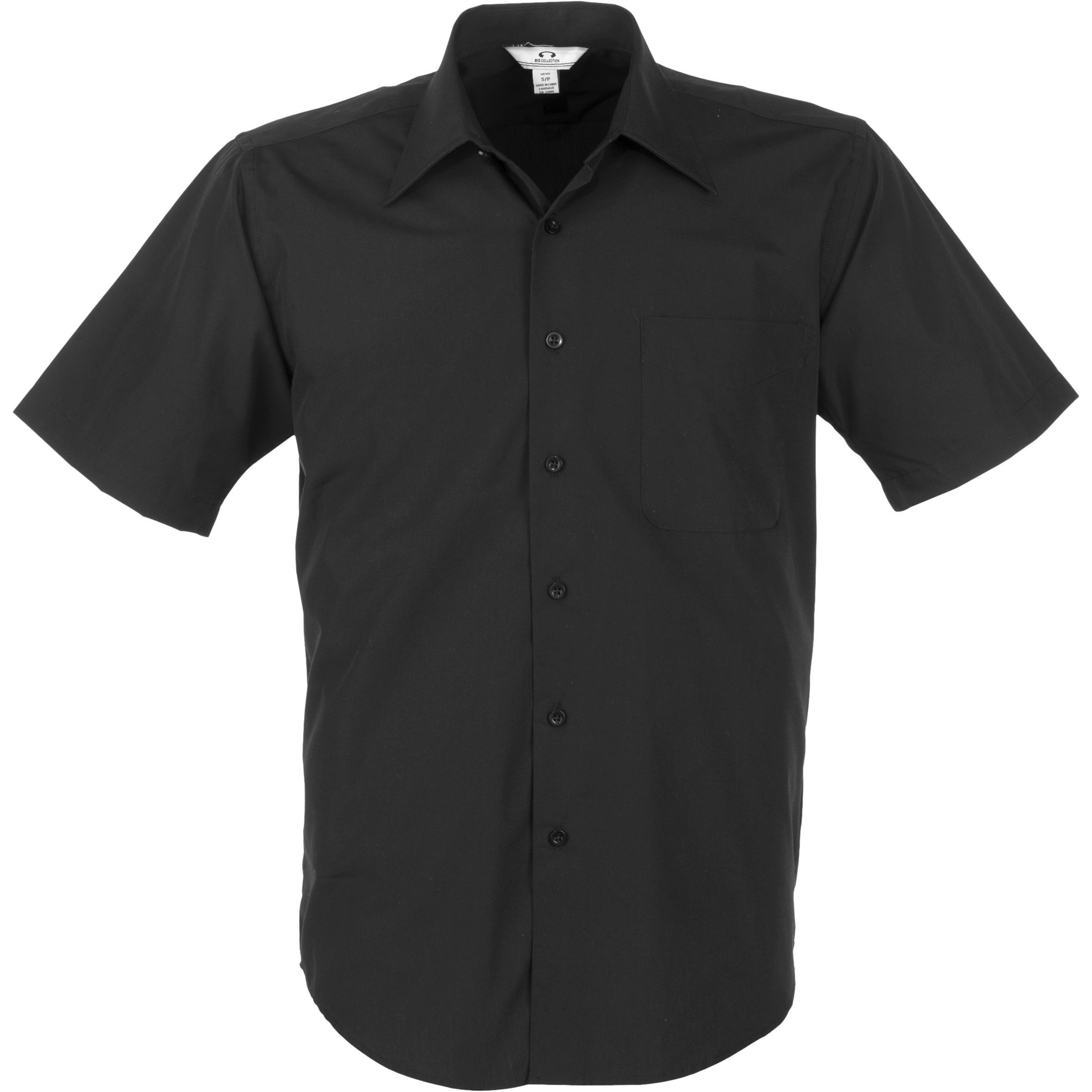 Mens Short Sleeve Metro Shirt - Black Only