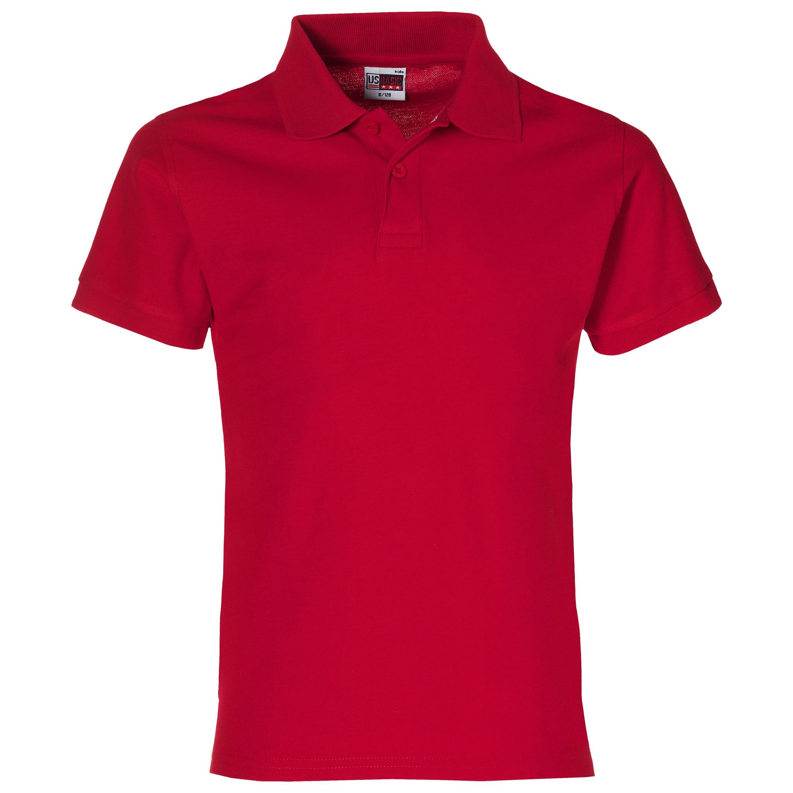 Boston Kids Golf Shirt - Red Only