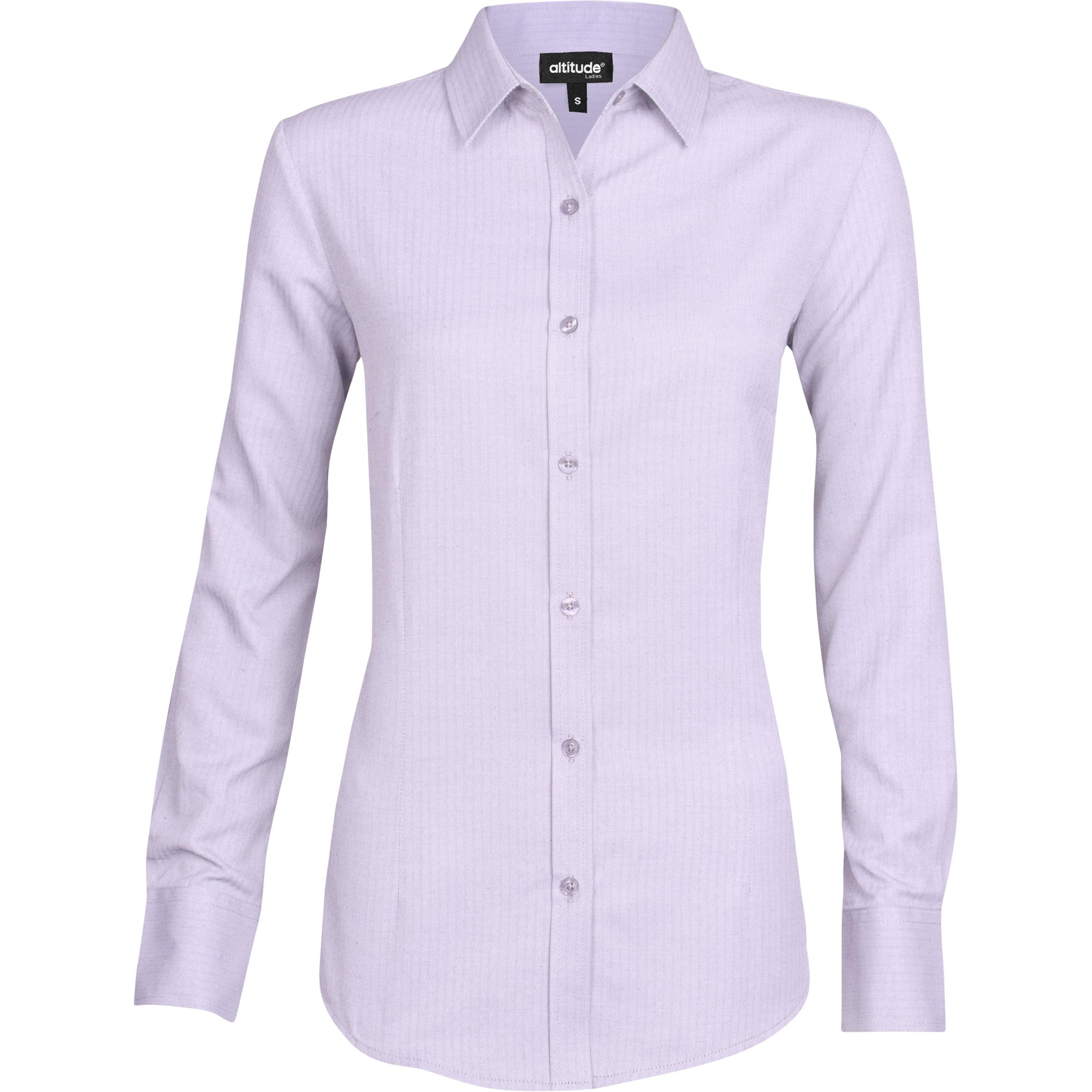 Ladies Long Sleeve Nottingham Shirt - Purple Only