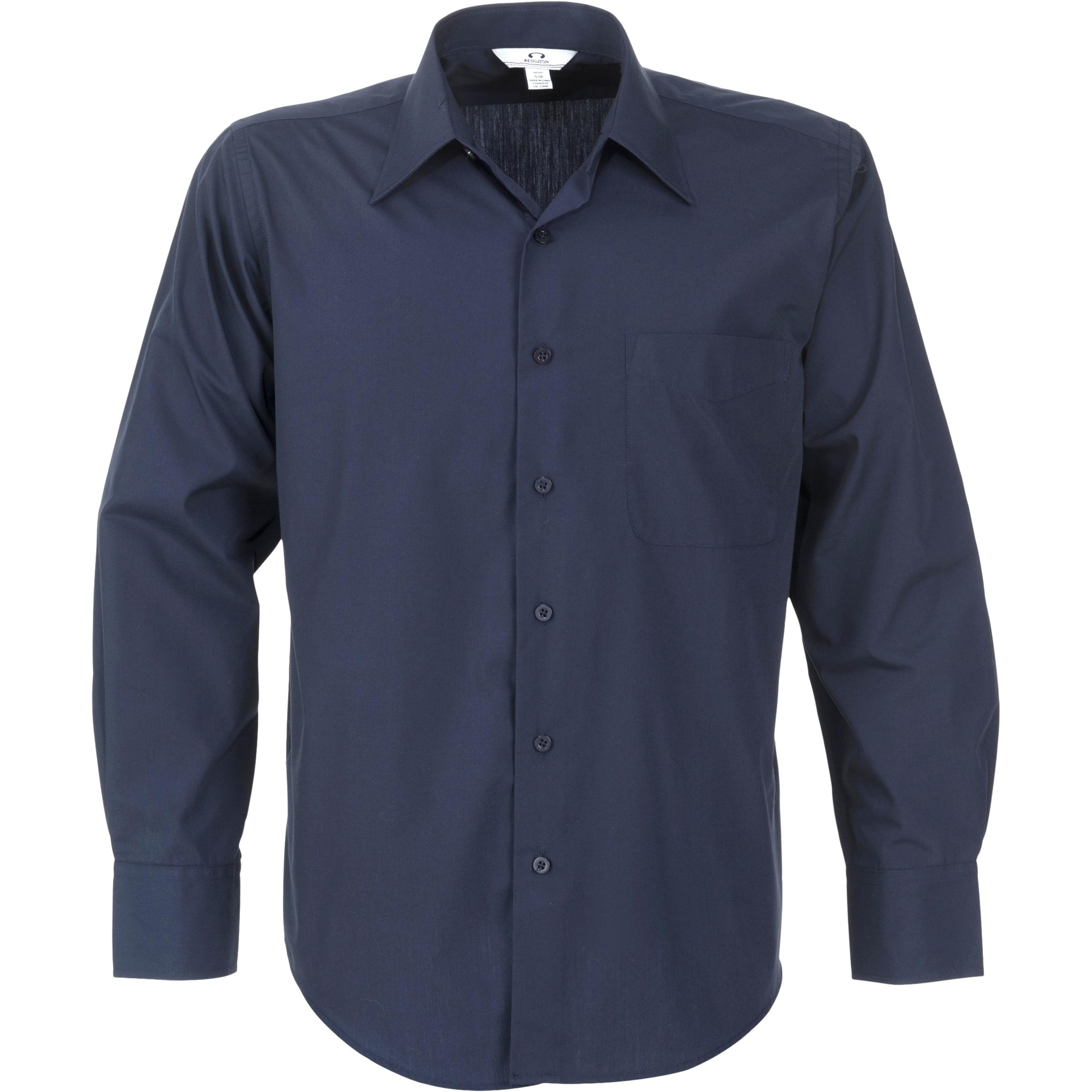 Mens Long Sleeve Metro Shirt - Navy Only