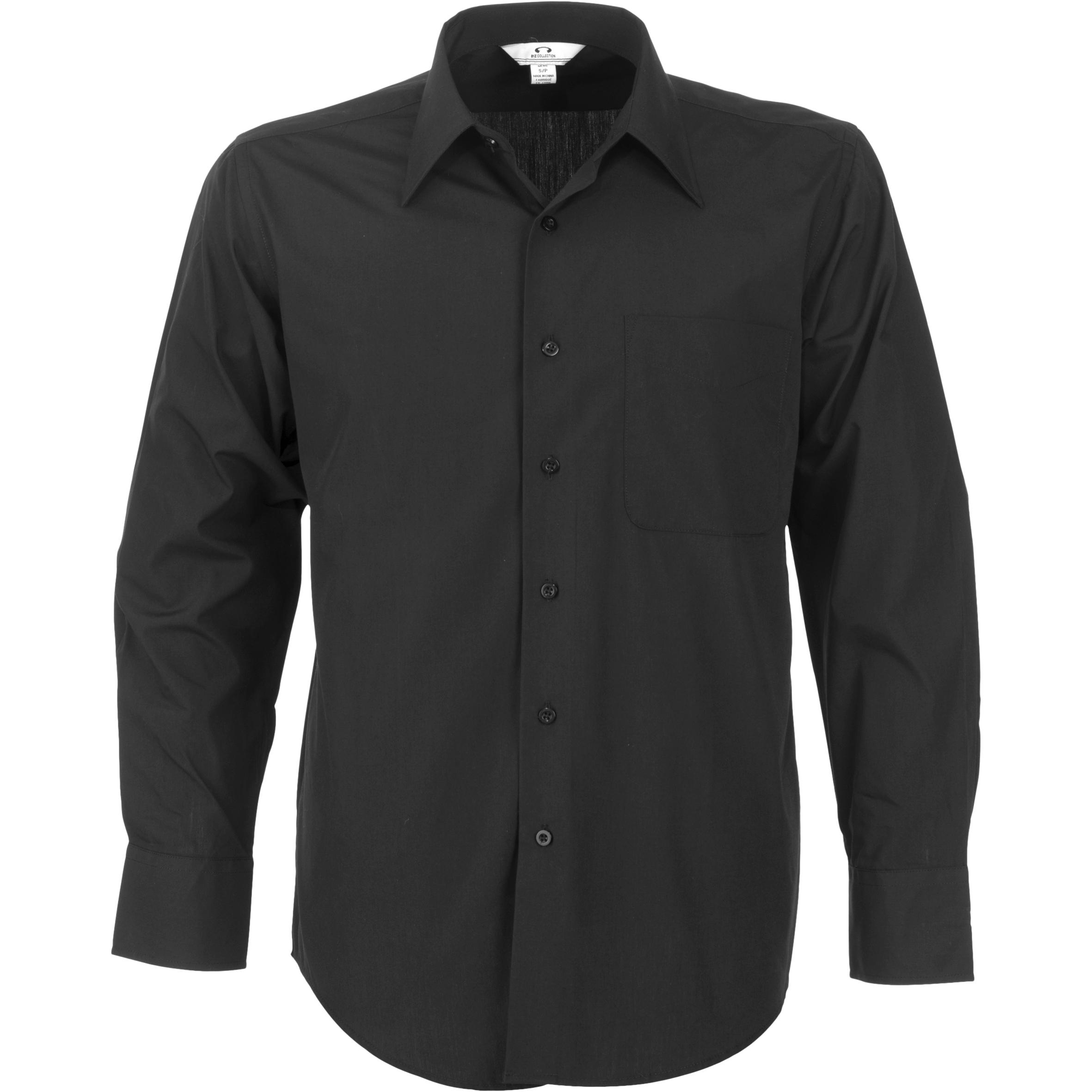 Mens Long Sleeve Metro Shirt - Black Only