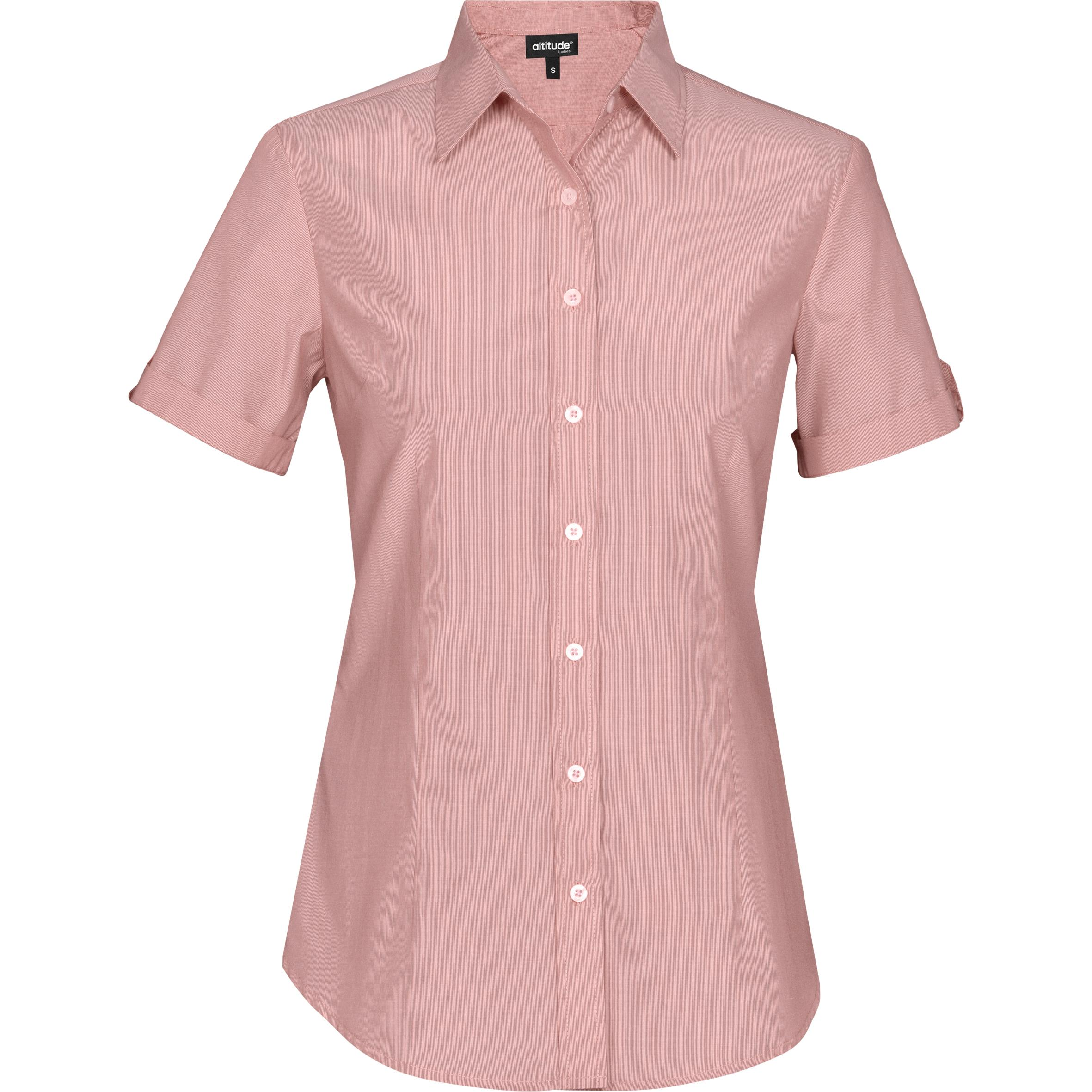 Ladies Short Sleeve Portsmouth Shirt - Red Only