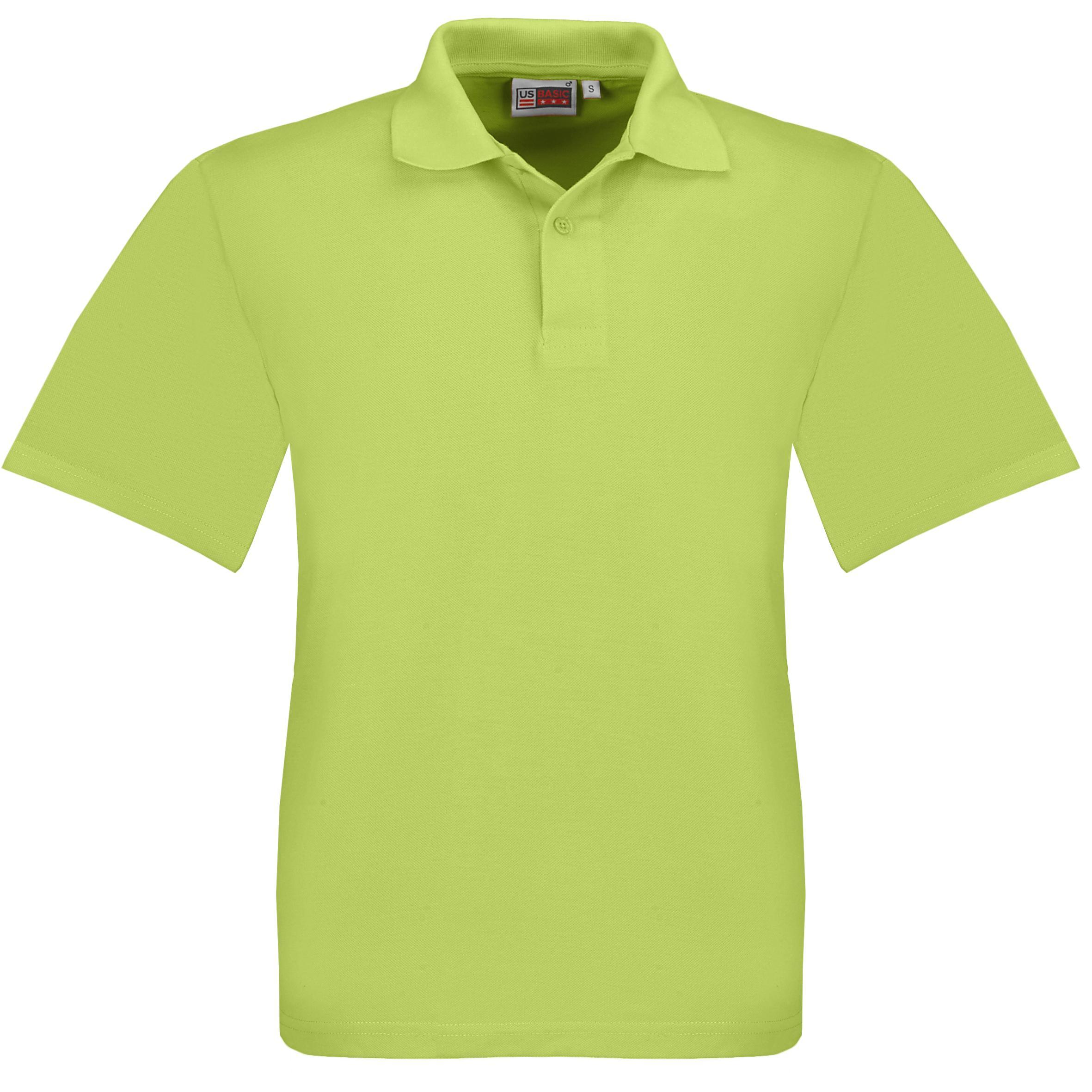 Kids Elemental Golf Shirt - Lime Only