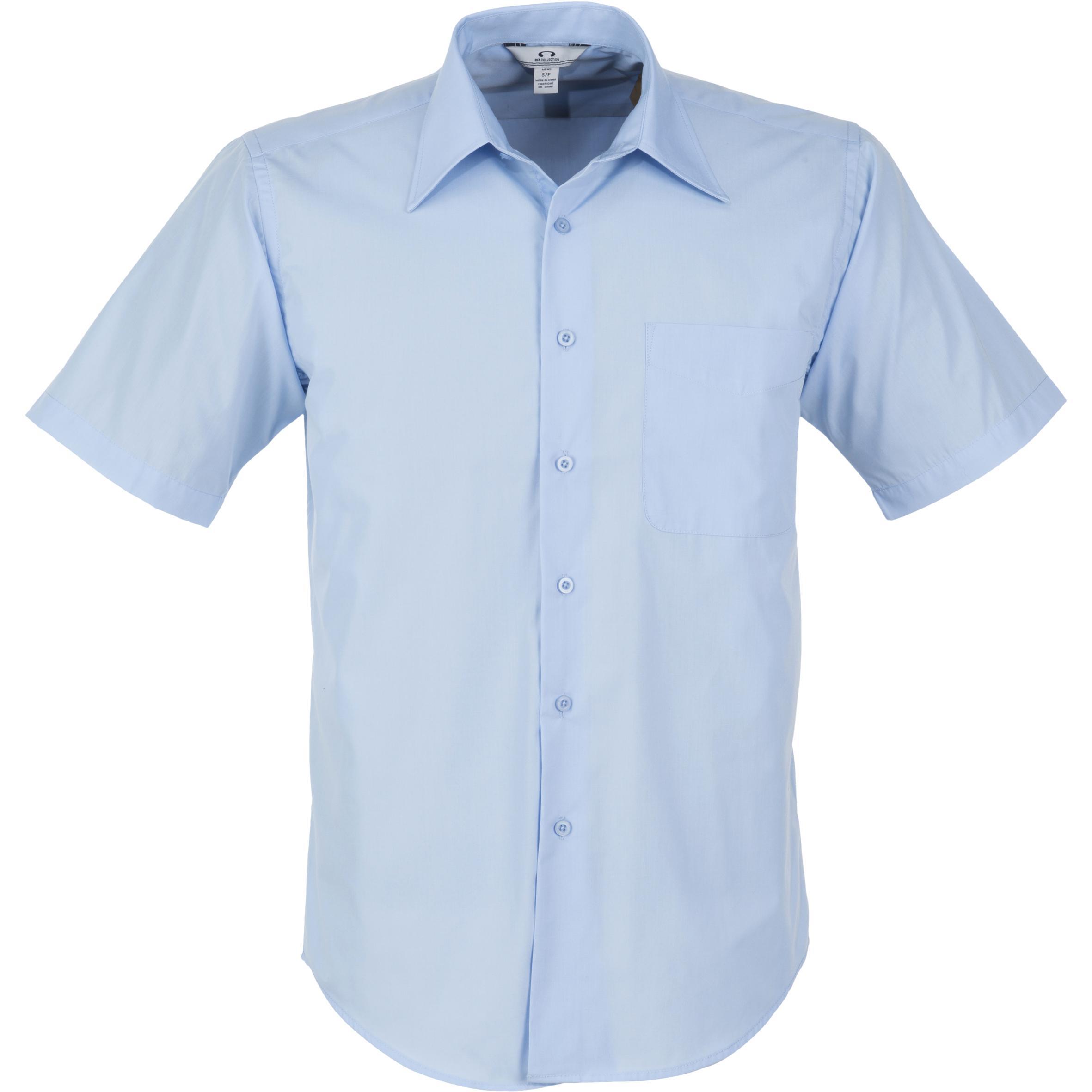 Mens Short Sleeve Metro Shirt - Light Blue Only