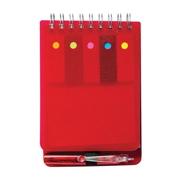 Dotty Note Book With Sticky Memos