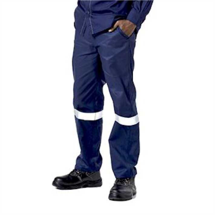 Dromex J54 Navy Blue Pantswith Reflective, Size 42