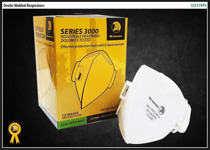 Dromex Ffp3 V, Flat Fold Mask With Adjustable Headband