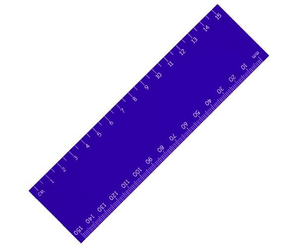 Stellar 15cm Ruler - Blue Only