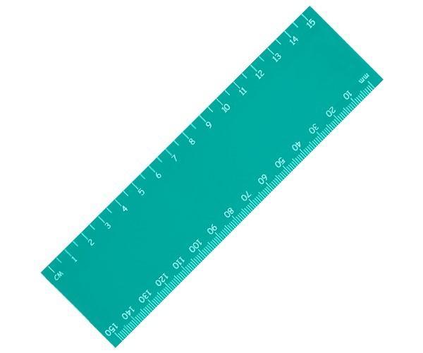 Stellar 15cm Ruler - Turquoise Only