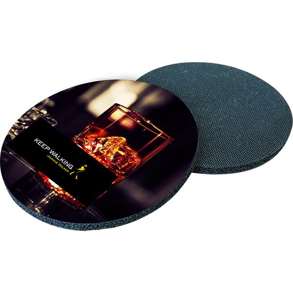 Round Polyester Coaster With Fc