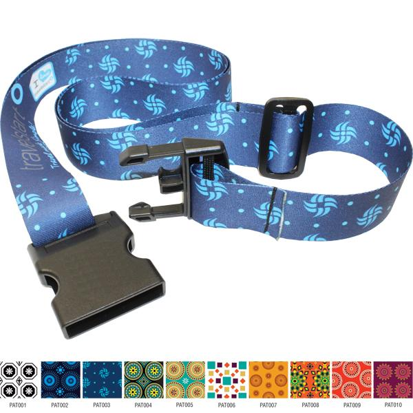 Kwame Adjustable Laggage Strap  With Fc Print
