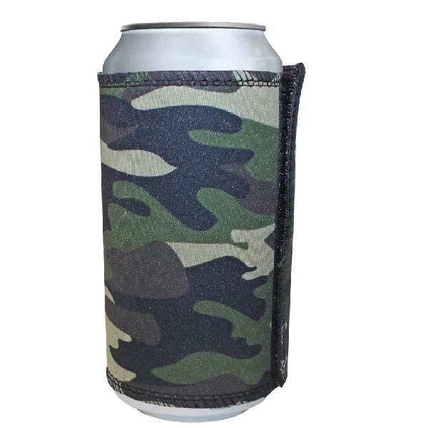 Camouflage Velcro Can Cooler 400ml With Fc Print