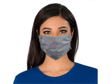 FACE MASKS & SHIELDS | Eva & Elm Adults Polycotton Face Mask - Single - Grey Only - 1