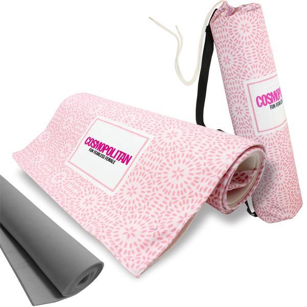 Yoga Mat Towel With Carry Bag +  Fc Print