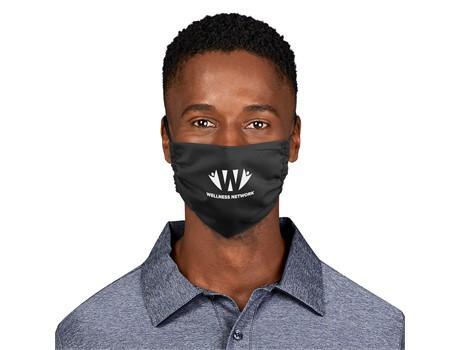 Eva & Elm Adults Polycotton Face Mask - Single - Black Only