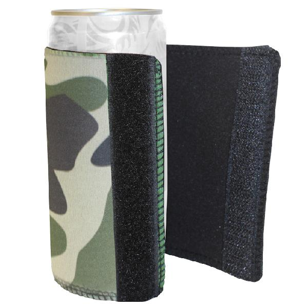 Camouflage Velcro Can Cooler 300ml With Fc Print
