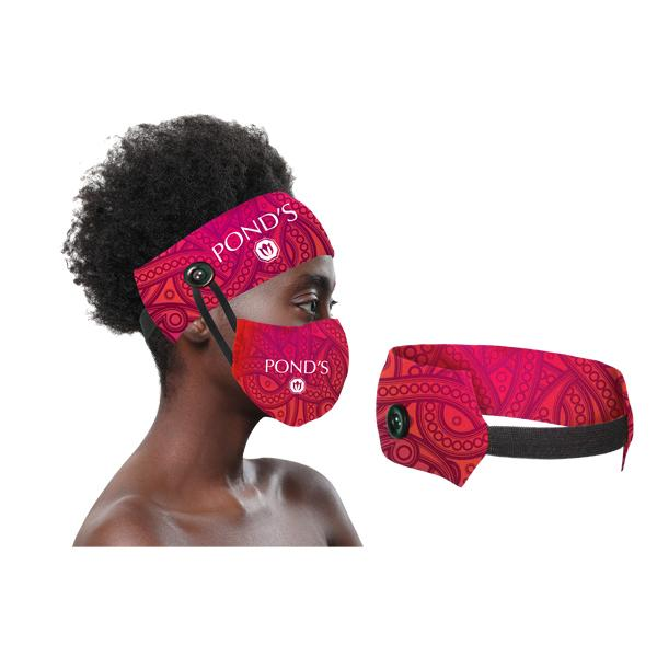 Yara Fc Headband With Elastic & Buttons For Mask