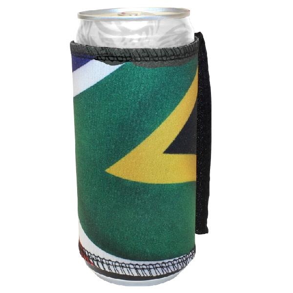 Sa Flag Velcro Can Cooler 500ml With Fc Print