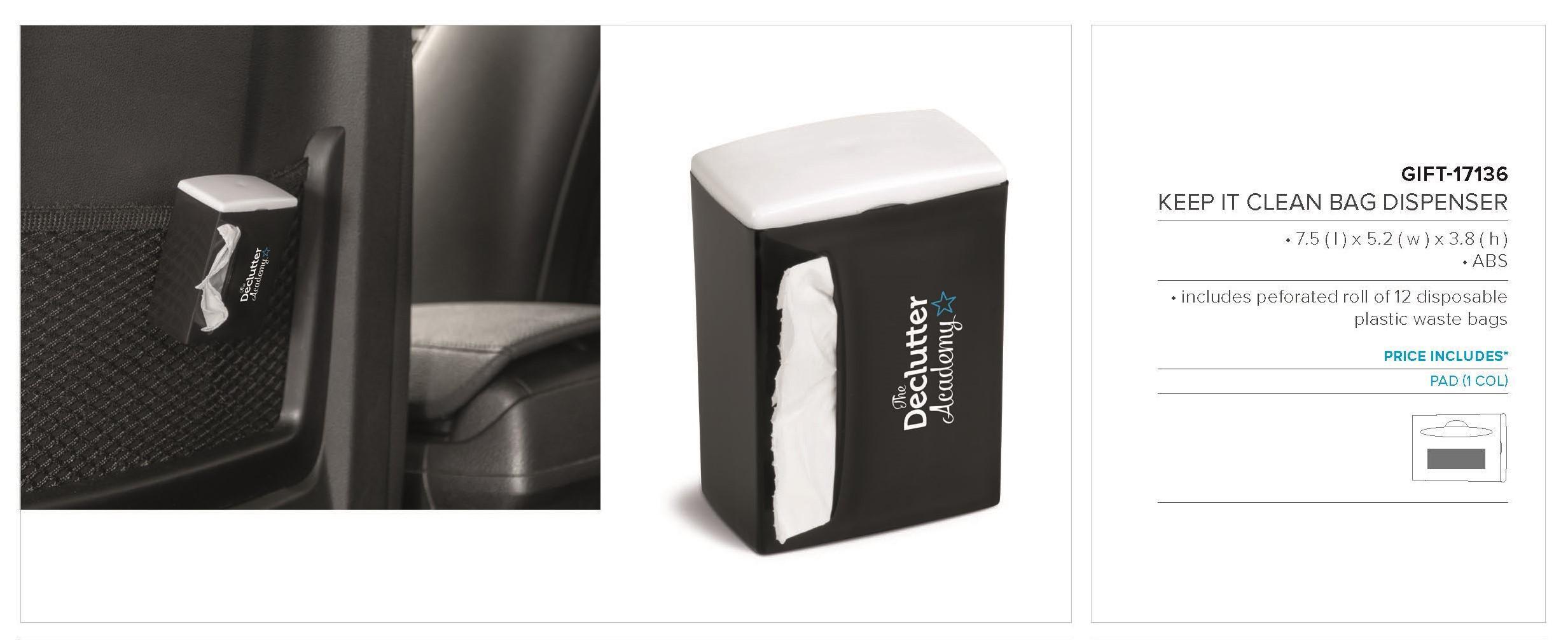 Keep It Clean Bag Dispenser - Black Only