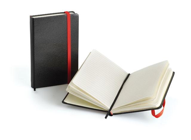 A6 Mini Notebook With Strap - Red