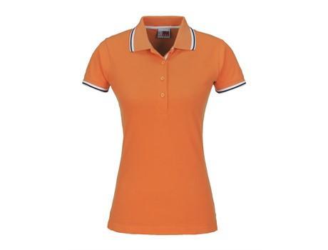 Ladies City Golf Shirt - Orange Only