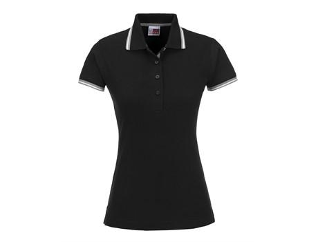 Ladies City Golf Shirt - Black Only