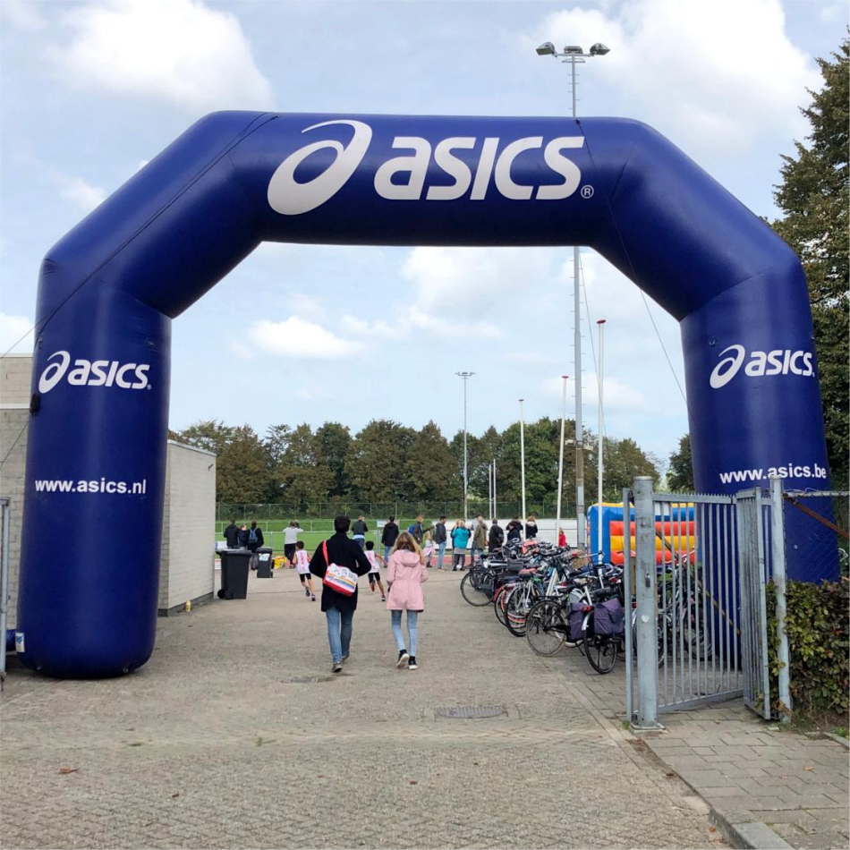 Inflatable Arch (angled) Complete Printed With Blower, Weights And Carry Bag
