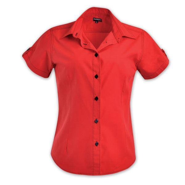Ladies Dynamic Woven Shirt - Red/black - While Stocks Last