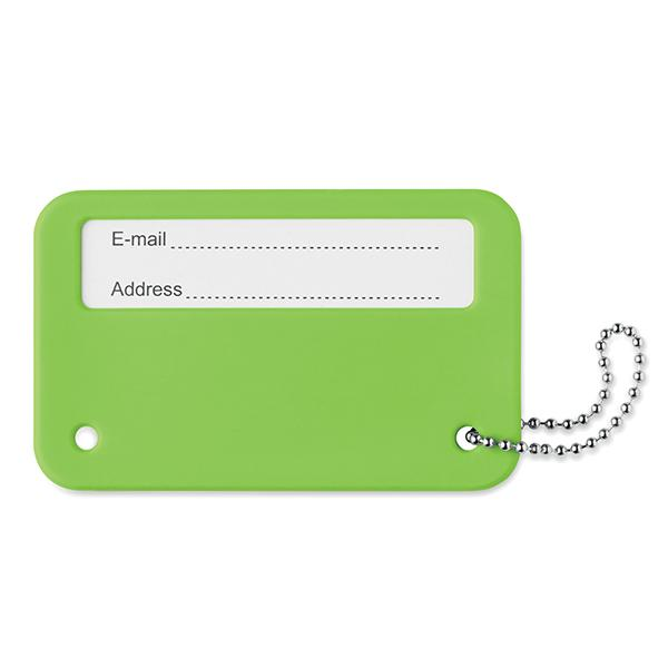 Travel Identity Tag - Lime