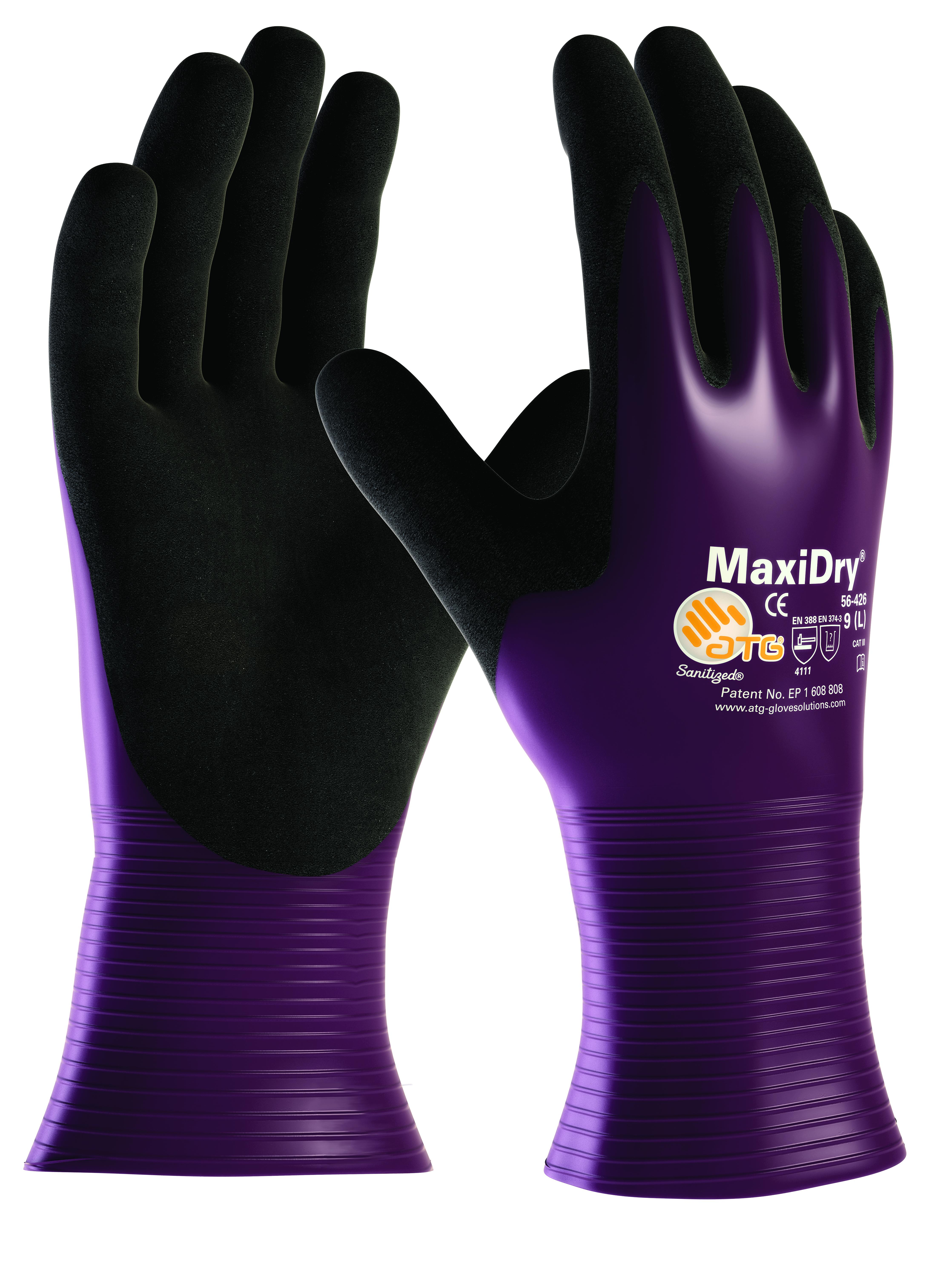 Maxidry Open Cuff Fully Coatd Gp Oil Resistant Gloves Ref 56-426