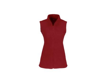 Ladies Yukon Micro Fleece Bodywarmer - Red Only