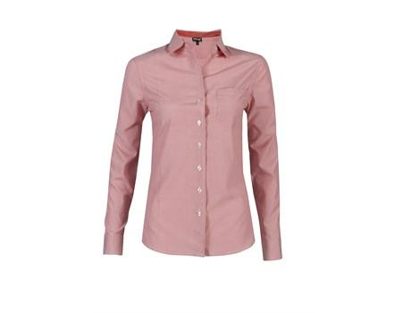 Ladies Long Sleeve Lisbon Shirt - Red Only