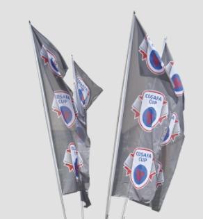 4-pole Cluster Flag (4 Poles, Base & Bag) - Hardware Only