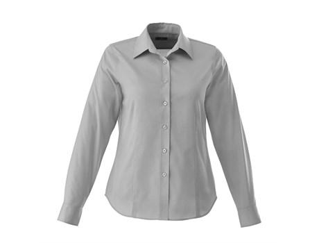 Ladies Long Sleeve Wilshire Shirt - Grey Only