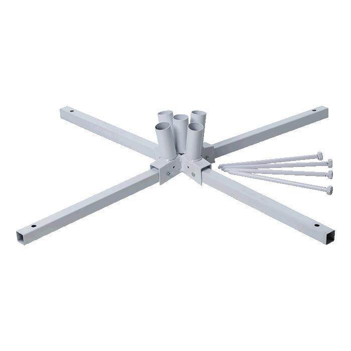 5-pole Cluster Flag (5 Poles, Base & Bag) - Hardware Only