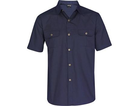 Mens Short Sleeve Oryx Bush Shirt - Navy Only