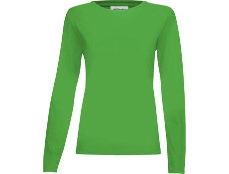 Ladies Long Sleeve Altitude T-shirt - Lime Only