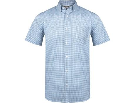 Mens Short Sleeve Edinburgh Shirt - Blue Only