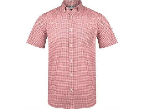 Mens Short Sleeve Edinburgh Shirt - Red Only