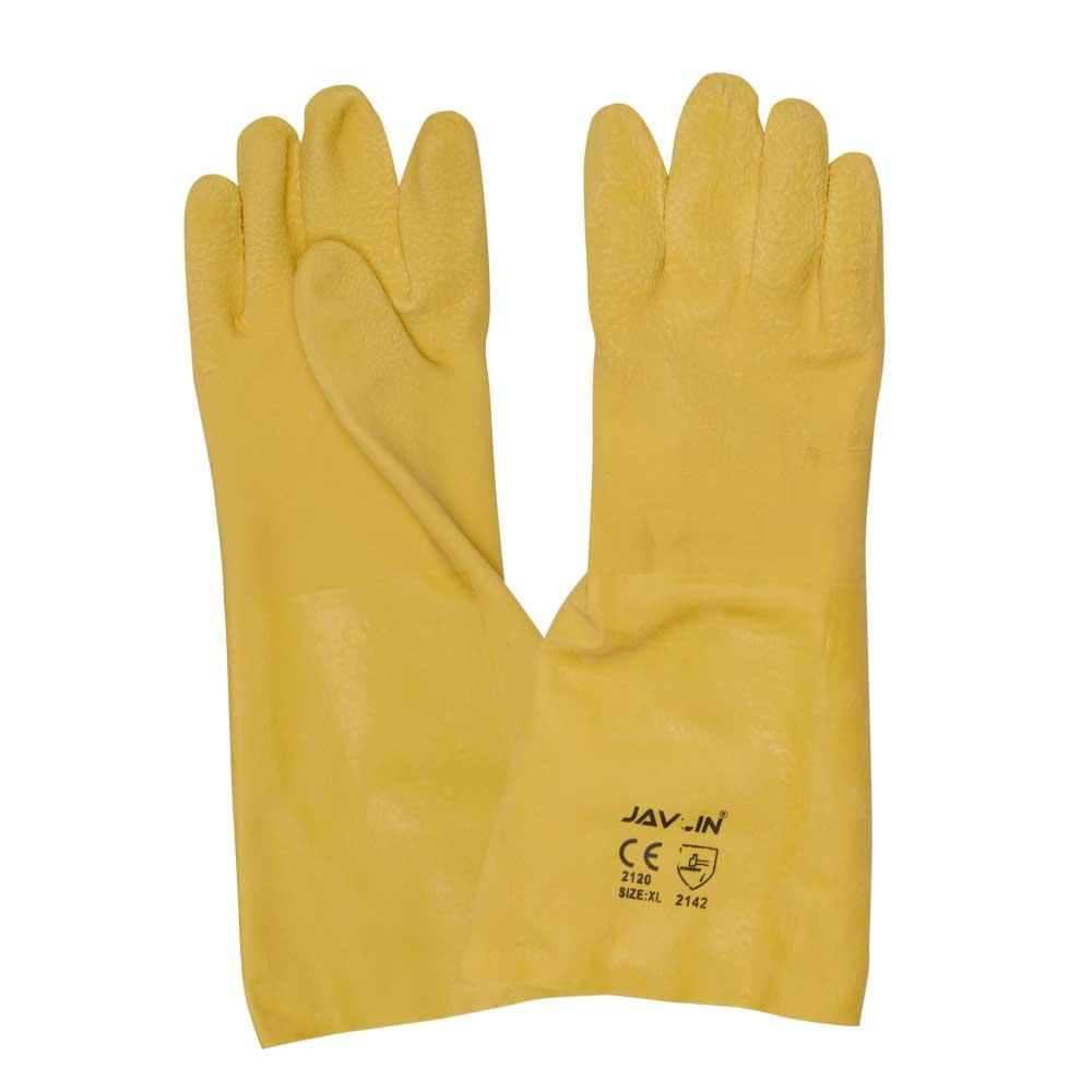 Triple Dipped Heavyweight Latex Dipped Gauntlet 40cm Jersey Lined