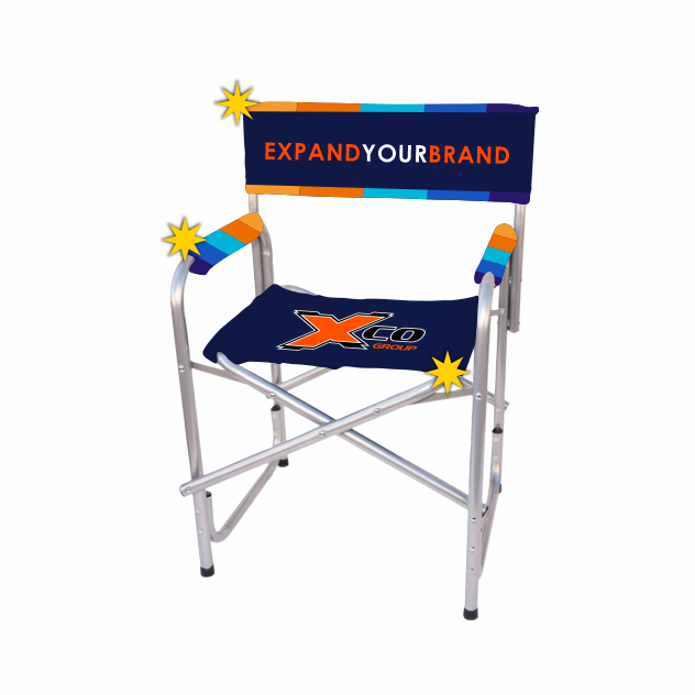 Exposure Director's Chair - Printed Seat, Back And Arm Rests