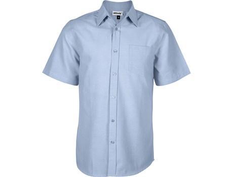 Mens Short Sleeve Oxford Shirt - Light Blue Only