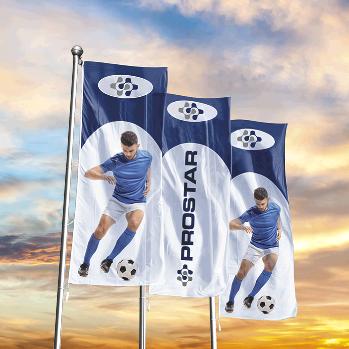 Corporate Flag - Single Sided - Digital