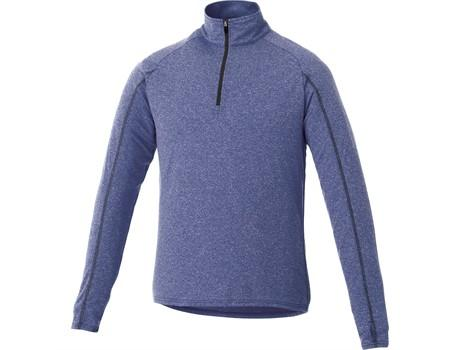 Mens Taza 1/4 Zip Sweater - Blue Only