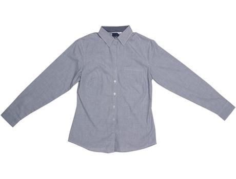 Ladies Long Sleeve Lisbon Shirt - Charcoal Only