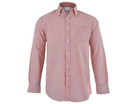 Mens Long Sleeve Lisbon Shirt - Red Only