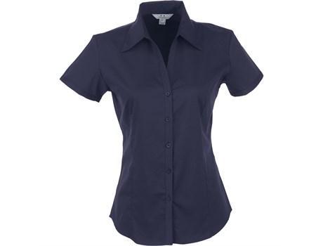 Ladies Short Sleeve Metro Shirt - Navy Only