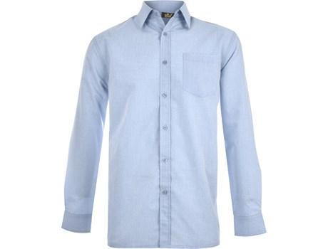 Mens Long Sleeve Apollo Shirt - Light Blue Only