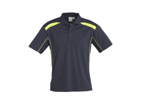 Mens United Golf Shirt - Navy With Lime Only