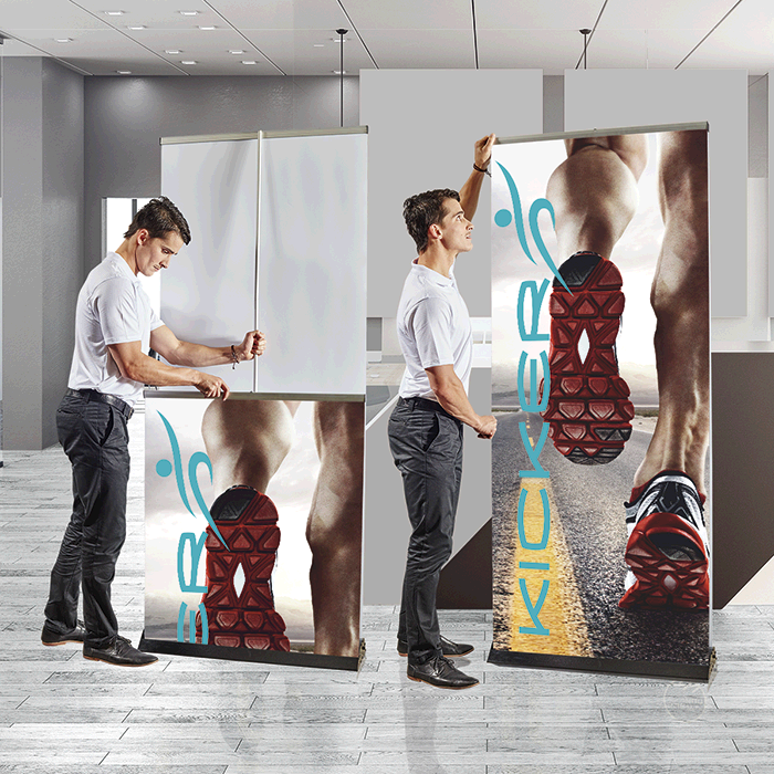 Pull Up Banner Double Sided-bnw